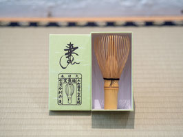 White bamboo tea whisk for thin tea 白竹茶筅 薄茶用