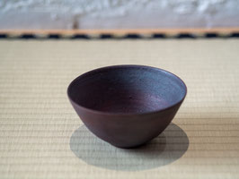 Black Glazed Tea Bowl - Thin Shohki 錆器