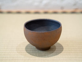 Brown Glazed Tea Bowl - Thick Shohki 錆器