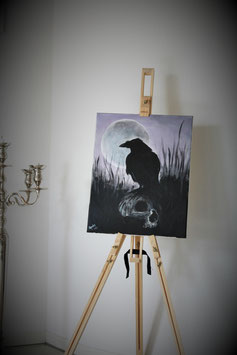 The Moon, the crow & the skull