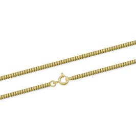Schlangenkette, vergoldet