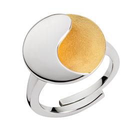 "Ring ""Yin-Yang, teilvergoldet"""