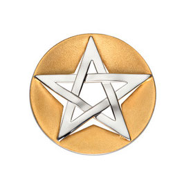 """Kettenanhänger """"Pentagram"""", vergoldet"""
