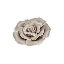 """Keramik Blume """"Rose"""" in Silber"""