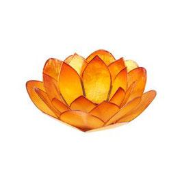 "Teelichthalter ""Lotus Orange"""