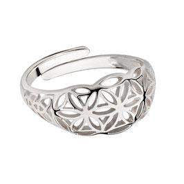 """Ring """"Blume des Lebens, gewölbt"""""""