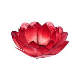"""Teelichthalter """"Lotus Rot"""""""