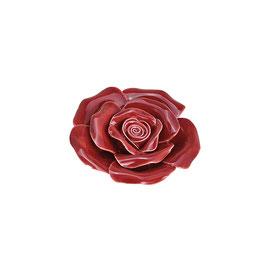 """Keramik Blume """"Rose"""" in Rot"""