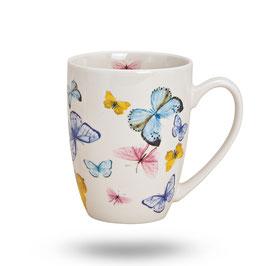 """Tasse """"Schmetterlinge"""" aus Porzellan"""