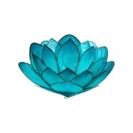 """Teelichthalter """"Lotus Hellblau"""""""