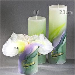 """Lotuskerze """"Green-Lilac"""""""