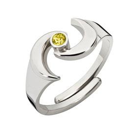 """Ring """"Gaia, gelb"""""""