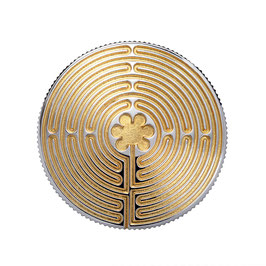"""Kettenanhänger """"Labyrinth von Chatres"""", teilvergoldet"""