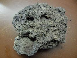Islandlava 1kg schwarz-grau