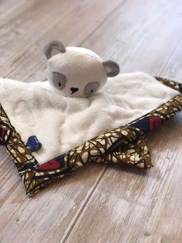 Doudou Waxou - Panda Rouge et Crème
