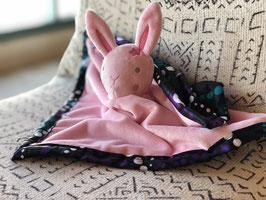 Doudou Waxou - Lapinette Violette et Turquoise