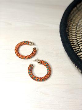 Boucles d'Oreilles Luna - Orange et Turquoise