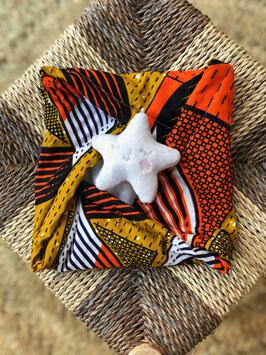 Doudou Waxou - Etoile Marron et Orange