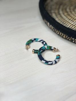 Boucles d'Oreilles Luna - Vert d'Eau et Bleu