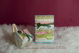 Conjunto de Tarjeta Felicitación y cajita de regalo