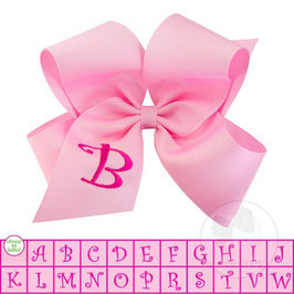Wee Ones Initial Bow Pink