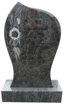 Grabmal mit Sonnenblume