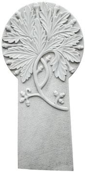 Grabmal mit halb-plastischem Eichenblattornament