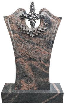 Grabmal mit Bronzeornament