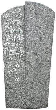 Grabmal mit ausgearbeitetem Schriftzug