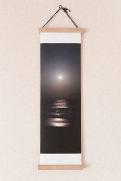 フォト掛け軸「月夜と海」