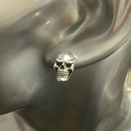 銀魂美 スタンダードスカルSM スタッド・ピアス シルバー925 ドクロ 骸骨