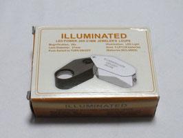 鑑定用ルーペ(精密ルーペ)LEDライト付