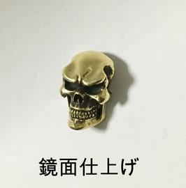 スカル コンチョ M ・ブラス(真鍮)(鏡面仕上げ)【スタンダードスカル タイプ】