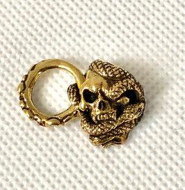 蛇 スカル ドロップ コンチョ 真鍮 ブラス 銀魂美