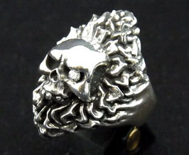 GSKR-006cz:Fire Skull Ring