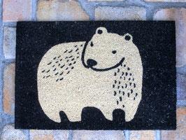 COIR MAT RECT POLAR BEAR
