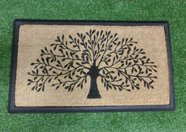 ラバーフレームコイヤーマット TREE