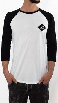 WENDJA Baseball Shirt schwarz-weiß
