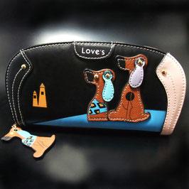 Artikel-Nr. 22 K - Geldbörse mit Hundemotiv mit abgerundeten Ecken