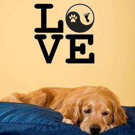 Artikel-Nr. 033F - Wandtattoo Love - Yin und Yang
