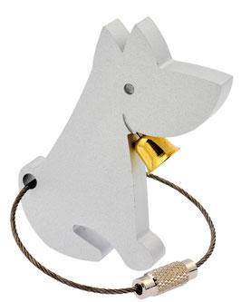 Artikel-Nr. 018A Schlüsselanhänger Hund mit Glöckchen