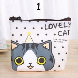 Artikel-Nr. 022M - Portemonnaie Motiv Cartoon Katzen