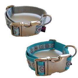 Artikel-Nr. 38 F - Gurthalsband mit Alu-Klickverschluss für kleine Hunde