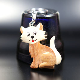 Artikel-Nr. 015A - Holzanhänger, Katze 1