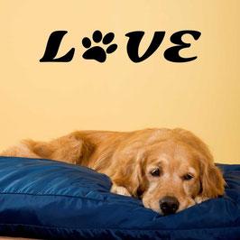 Artikel-Nr. 033G - Wandtattoo Love - Pfote
