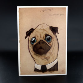 Artikel-Nr. 32G - Postkarte Herr Mops