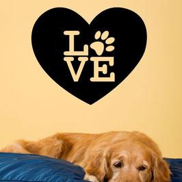Artikel-Nr. 033E - Wandtattoo Love - Pfote im Herz