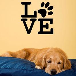 Artikel-Nr. 033B - Wandtattoo Love-Pfote quadratisch
