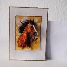 Artikel-Nr. 37G - 3D-Grußkarte Motiv Pferdekopf
