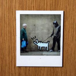 Artikel-Nr. 031B - Polaroidmagnet Motiv Streetart Hund